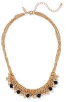 New York & Co. Black Beaded Goldtone Necklace