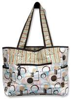 Trend Lab Cocoa Dots Tulip Tote Diaper Bag, w/ Changing Pad