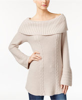 Style&Co. Style & Co Petite Off-The-Shoulder Cable-Knit Sweater, Only at Macy's