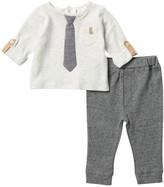 Dark Grey CTM/® Boys Striped 3 Piece Set