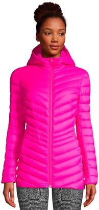 Lands' End Petite Ultralight Hooded Packable Down Jacket
