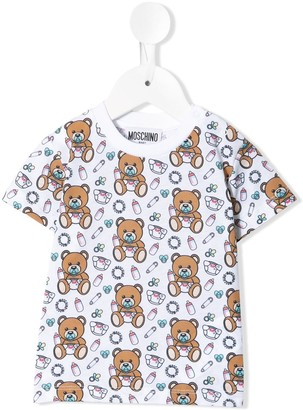 MOSCHINO BAMBINO Teddy Bear crew-neck T-shirt