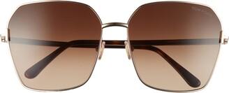 Tom Ford 62mm Claudia Square Sunglasses
