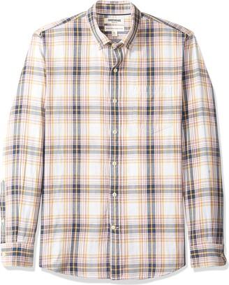 Goodthreads Amazon Brand Men's Standard-Fit Long-Sleeve Doubleface Shirt
