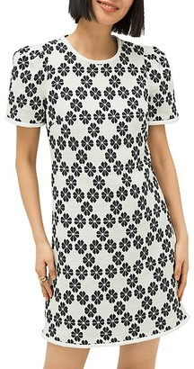 Kate Spade Daisy-Print Tweed Shift Dress
