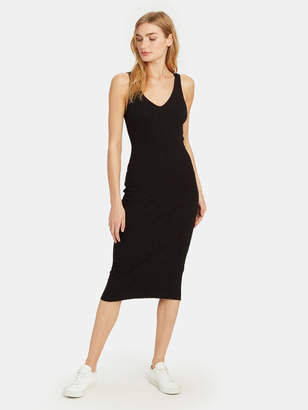 Enza Costa Rib Sweater Knit Tank Midi Dress