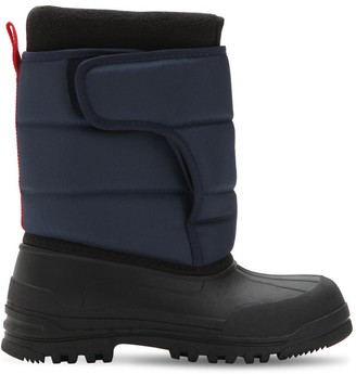 Ralph Lauren Logo Nylon Canvas Snow Boots