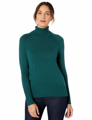 Lark & Ro Amazon Brand Women's Rib Detail Turtleneck Sweater