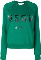 MSGM printed sweatshirt - women - Cotton - S