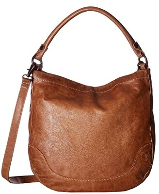 Frye Melissa Hobo (Beige Antique Pull Up) Hobo Handbags