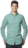 Chaps Big & Tall Plaid Easy-Care Poplin Shirt