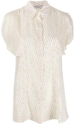 Stella McCartney Jacquard-Pattern Silk Blouse