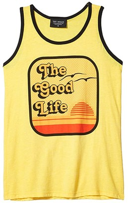 Tiny Whales The Good Life Tank (Toddler/Little Kids/Big Kids) (Tri Yellow) Boy's Clothing