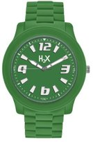 Haurex H2X Women's SG381XG1 Splash Luminous Water Resistant Green Soft Rubber Watch