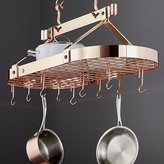 Crate & Barrel Enclume ® Oval Copper Ceiling Pot Rack