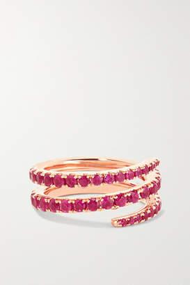 Anita Ko 18-karat Rose Gold Ruby Pinky Ring
