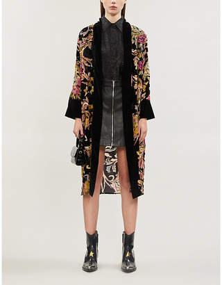 The Kooples Embellished floral chiffon jacket