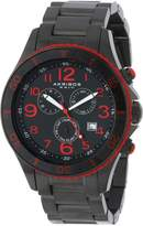 Akribos XXIV Men's AK616RD Ultimate Swiss Chronograph Red and Black Stainless Steel Bracelet Watch