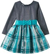 Bonnie Jean Girls 4-6x Sparkle Plaid Dress