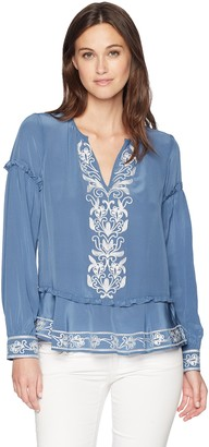 Parker Women's Sawyer Long Sleeve Embroidered Blouse
