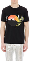 Maison Margiela Men's Racing-Graphic T-Shirt-BLACK