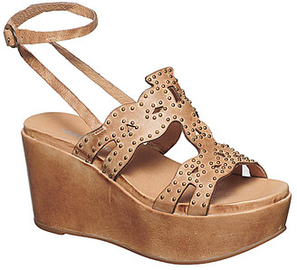 Antelope Women's Sandals Taupe - Taupe Studded Ankle-Strap Leather Sandal - Women