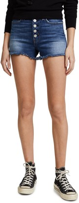 Hudson Women's Zoeey HIGH Rise Exposed Button Cut Off Jean Shorts