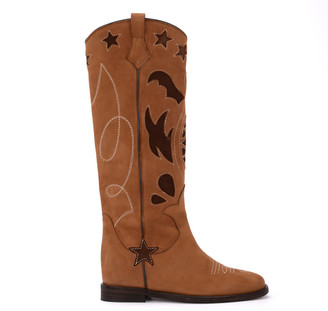 Via Roma 15 Caramel Nabuk Texan Boots