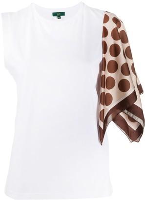 Jejia foulard-sleeve T-shirt