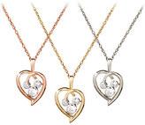 Disney Diamond Heart Mickey Mouse Necklace - 18 Karat