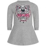 Kenzo KidsBaby Girls Grey Cotton Tiger Dress
