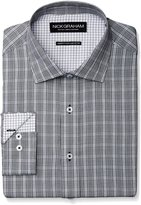 Nick Graham Men's Plaid Poplin Dress Shirt