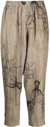 UMA WANG Octopus Print Trousers