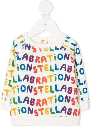 Stella McCartney Kids Stellabration print sweatshirt