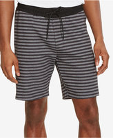 "Kenneth Cole Reaction Men's Striped Elastic Drawstring 9.5"" Shorts"