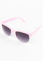 Missy Empire Gabriel Pink Half Frame Sunglasses