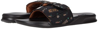 Reef Stash Slide (Black/Tiki) Men's Shoes