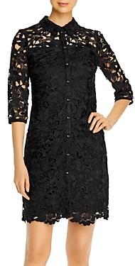 Karl Lagerfeld Paris Collared Lace Dress