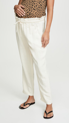 Hatch Linen Paperbag Pants