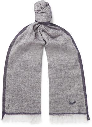 Ermenegildo Zegna Fringed Linen, Cashmere, Silk And Wool-Blend Scarf