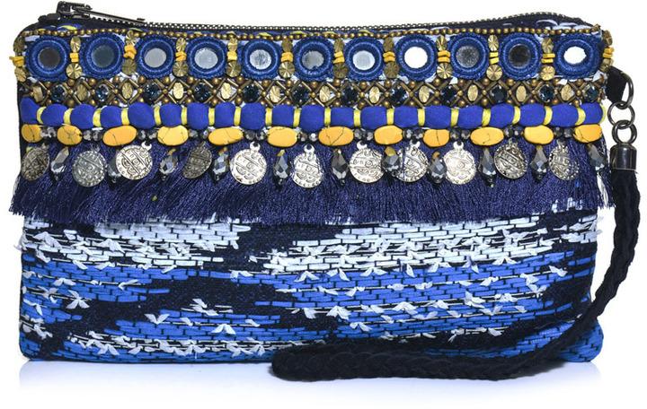 Matthew Williamson Taj tapestry clutch