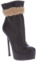 Saint Laurent 'Tribute Two' shearling trimmed bootie