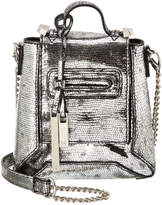 Halston Micro Cell Leather Clutch