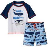 Osh Kosh Baby Boy Whale Rashguard & Swim Trunks Set