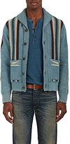 RRL Men's Folkloric-Striped Cotton-Blend Cardigan