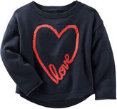 Osh Kosh Oshkosh Long-Sleeve Navy Sweatshirt - Toddler Girls 2t-5t