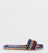 Asos Design DESIGN Wide Fit Jayme rope sandals