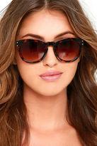 LuLu*s Mushroom Black Sunglasses