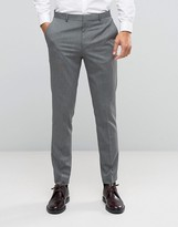 Asos WEDDING Slim Suit Pants with Stretch in Mid Gray