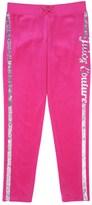 Juicy Couture Girls Logo Juicy Sequins Velour Slim Pant